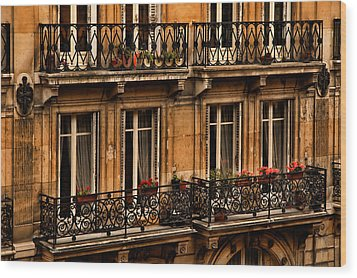 Left Bank Balconies Wood Print