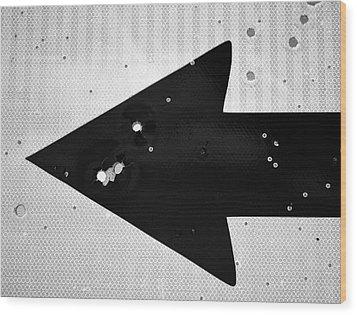 Left Turn Wood Print by Tom Druin