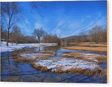 Wood Print featuring the photograph Leftover Snow by Rick Friedle