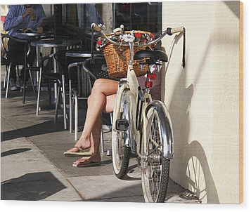 Leg Power - On Montana Avenue Wood Print