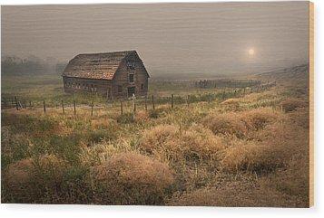 Legacy - Haynes Ranch Barn Wood Print by John Poon