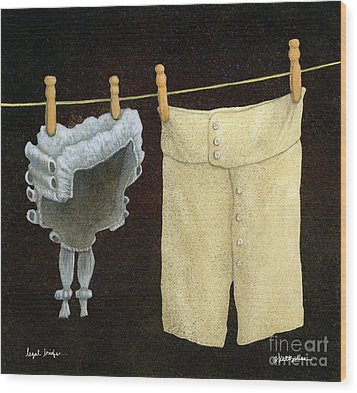 Wood Print featuring the painting Legal Briefs... by Will Bullas