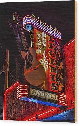 Legends Corner Nashville Wood Print