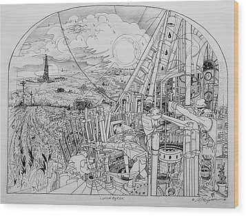 Legends Of Rig Ram Wood Print