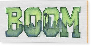 Legion Of Boom Wood Print