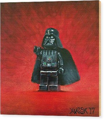 Lego Vader Wood Print