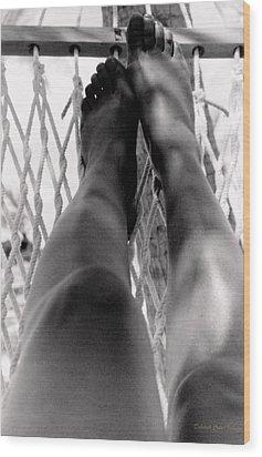 Legs Wood Print by Deborah  Crew-Johnson