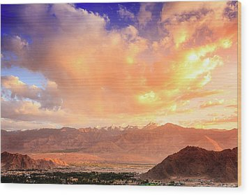 Wood Print featuring the photograph Leh, Ladakh by Alexey Stiop