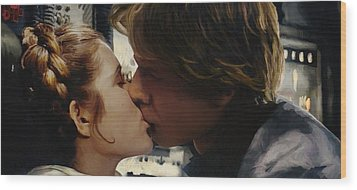 Leia And Han Wood Print by Mitch Boyce