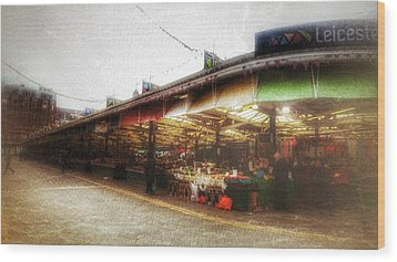Wood Print featuring the photograph Leicester Market by Isabella F Abbie Shores FRSA