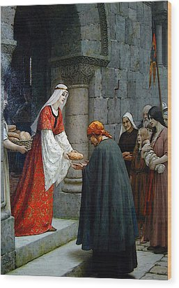 Leighton Edward Blair Charity Of St Elizabeth Of Hungary Wood Print