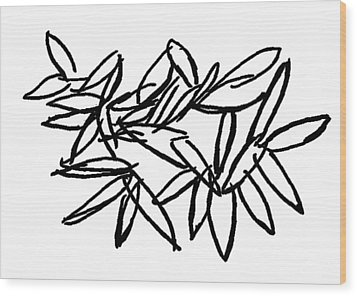 Wood Print featuring the drawing Leipzig Leaves by Dick Sauer