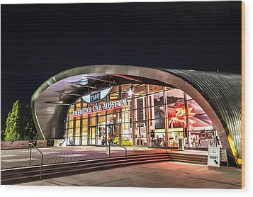 Lemay Car Museum - Night 1 Wood Print