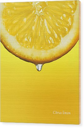 Lemon Drop Wood Print