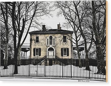 Lemon Hill Mansion - Philadelphia Wood Print by Bill Cannon