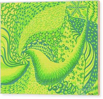 Lemon Lime Wood Print by Kim Sy Ok