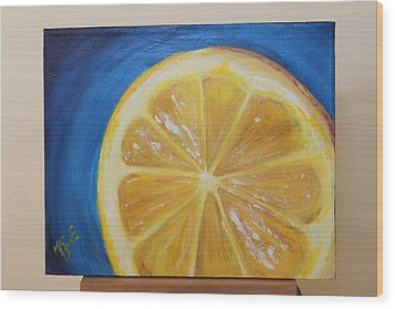 Lemon Wood Print by Matt Burke