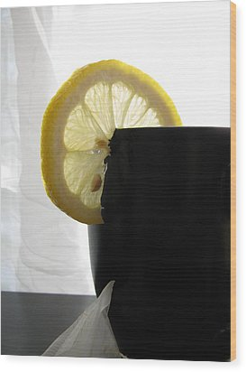 Wood Print featuring the photograph Lemon Slice by Lindie Racz