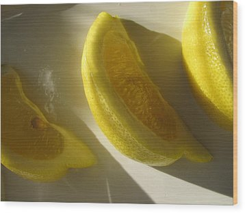 Wood Print featuring the photograph Lemon Slices by Lindie Racz