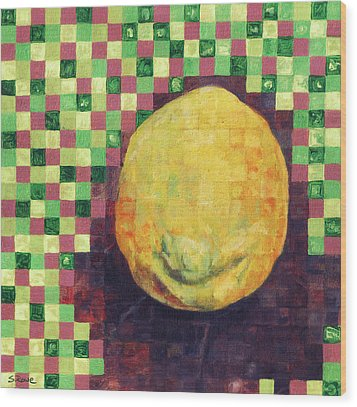 Wood Print featuring the painting Lemon Squares by Shawna Rowe