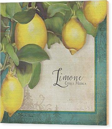 Lemon Tree - Limone Citrus Medica Wood Print by Audrey Jeanne Roberts