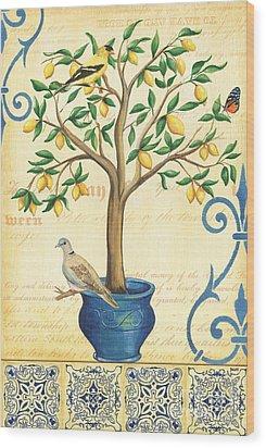 Lemon Tree Of Life Wood Print by Debbie DeWitt
