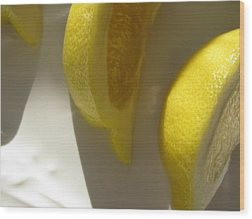 Wood Print featuring the photograph Lemon Yellow by Lindie Racz