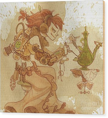 Lemongrass Wood Print by Brian Kesinger