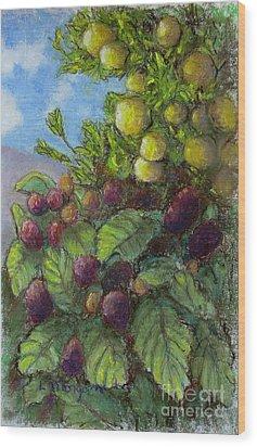 Lemons And Berries Wood Print by Laurie Morgan