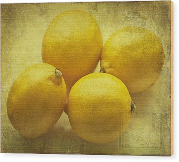 Lemons Wood Print by Georgia Fowler