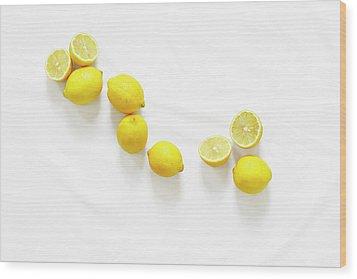 Lemons Wood Print by Lauren Mancke
