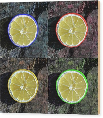 Lemons Wood Print by Rob Hawkins