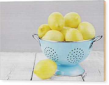 Lemons Wood Print by Stephanie Frey