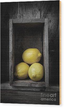 Lemons Still Life Wood Print