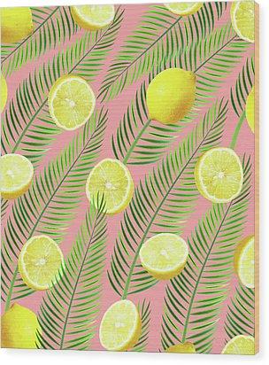 Lemons Wood Print by Uma Gokhale