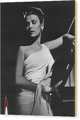 Lena Horne  Circa 1943-2015 Wood Print by David Lee Guss