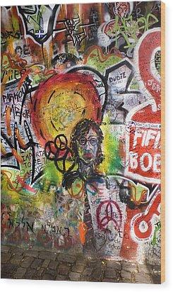 Lennon Wall, Prague Wood Print by Mark Williamson
