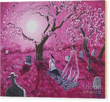 Lenore In The Breaking Dawn Wood Print by Laura Iverson