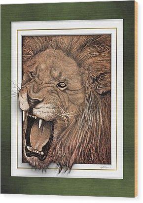 Leo Wood Print by Jim Turner