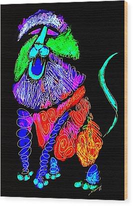 Leo, Rampant -- Negative Version Wood Print