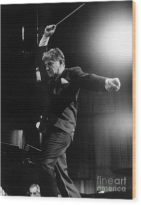 Leonard Bernstein Wood Print by Granger