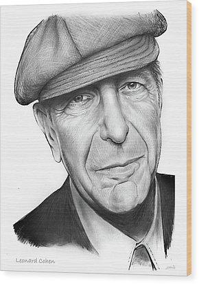 Leonard Cohen Wood Print