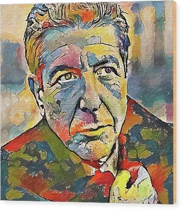 Leonard Cohen Tribute 3 Wood Print