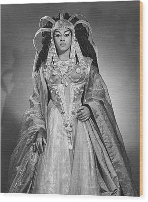 Leontyne Price B. 1927, As Cleopatra Wood Print by Everett