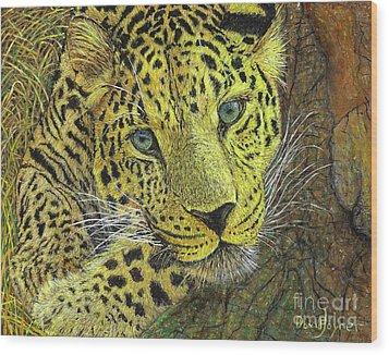 Leopard Gaze Wood Print