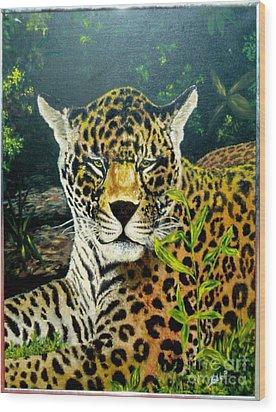 Leopard Wood Print by Peter Kulik