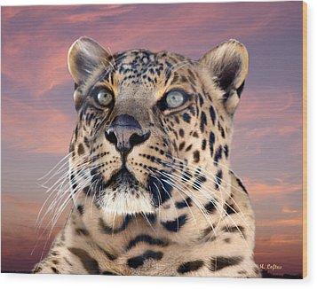 Leopard Portrait Number 3 Wood Print