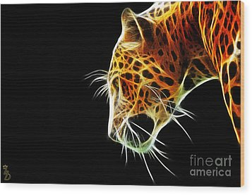 Leopard Wood Print by The DigArtisT