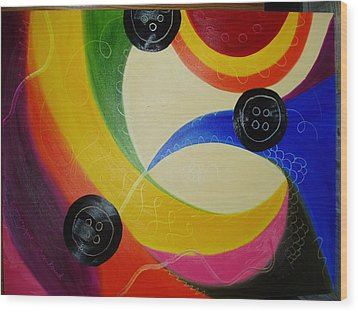 Les Boutons Noirs 2 Wood Print by Dominique Boutaud