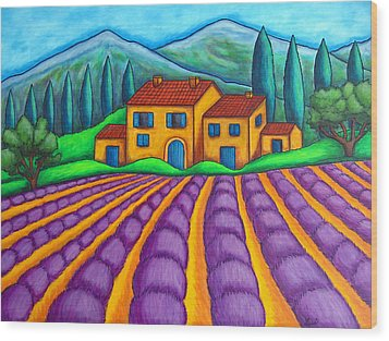 Les Couleurs De Provence Wood Print by Lisa  Lorenz